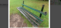 Alice Park - Previously reported Broken Park Bench