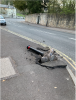 Bollard knocked over on corner of Lyncombe Vale and Prior Park Road